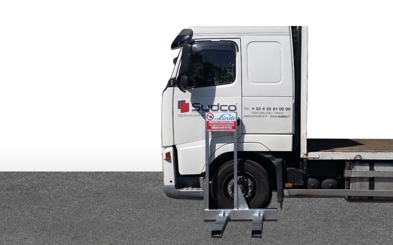 Armature bloque roue camions – Linde
