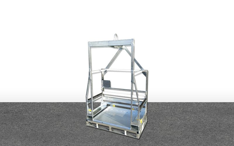 Palette réhausse + Prise de grue – Air Liquide