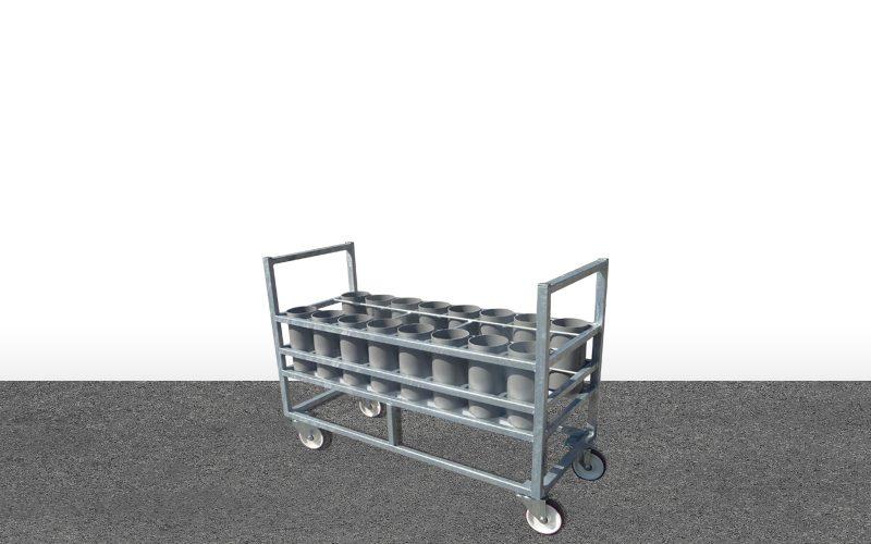 Table roulante 16B2-B5 avec tubes PVC160