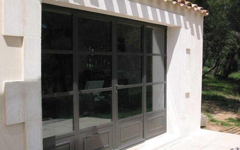 Baie vitrée métal 4 vantaux